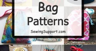 130+ Free Drawstring Bag Patterns & Tutorials
