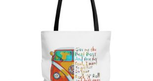 Gorgeous & Stylish Tote Bag - vw bus tote bag, camping tote bag, travel bag