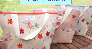 Insulated Lunch Bag - DIY PDF Pattern with Detailed Instructions (Now in Three Sizes!)
