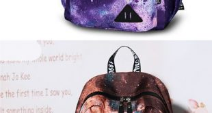 Universe Polyester Travel College Backpack Colorful Large Galaxy School Rucksack