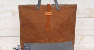 Waxed canvas bag, diaper bag , waxed canvas tote, messenger bag, waxed bag, dark khaki green, Leather straps, Men messenger, Vogue