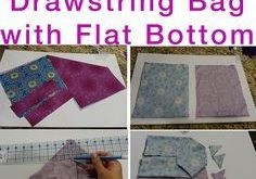 How to Sew Fully Lined, Flat Bottomed, Drawstring Bag FREE Pattern