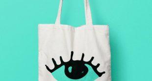 Tote Bags, Eye tote bag canvas, Funny Tote Bag, Canvas Tote Bag, Printed Tote Bag, Market Bag, Cotton Tote Bag, Green Canvas Tote, Eye Tote