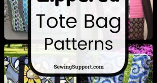 15 Free Zippered Tote Bag Patterns, tutorials, and diy sewing projects. Lined st...