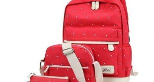 3Pcs/Set Small Solid Color Women Backpacks Female School Bags For Teenageintothe...