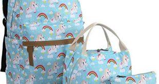 Buy Bookbag Girls School Backpack Cute Schoolbag fit 15inch Laptop Insulated Lun...