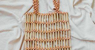 Wood Beads Market Bag