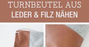 DIY-Anleitung: lässigen Beutel als Alltagsaccessoire, modernen Turnbeutel aus L...