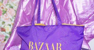 90s vintage bag, beach market shopping bag, big retro purse, bazaar tote bag, purple yellow bag