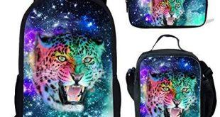 Amazing offer on Backpack Lunch bag Pencil bag Galaxy Leopard Print School Rucks...