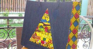 Ankara Bag - Bags and Purses -Ankara-Denim Tote - Shopping bag-Womens Gift -Boho...