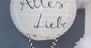 DIY Geschenkidee zur Hochzeit - Heißluftballon Geldgeschenk basteln - DIY