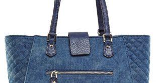 GUESS Frauen Kalen Carryall Denim Tote: Handtaschen: Amazon.com Mehr Kleidung, S...
