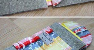 Geldbörse Tasche. Kostenlose Anleitung, schnell und einfach zu nähen. Fototutorial www.hand...