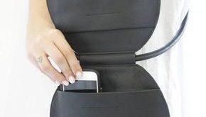 Runde schwarze Ledertasche, Kreistasche, runde Tasche, runde Abendkupplung, Kreuze Umhängetasche, runde Handtasche, einzigartige Schultertasche, Kreistasche