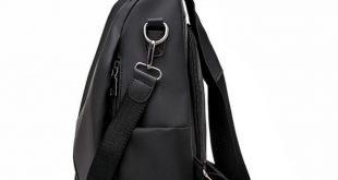 Simple Preppy Style Nylon Backpack Women Daypack Shoulder Bags For Teen Girls Pu Leather Backpacks Rucksack