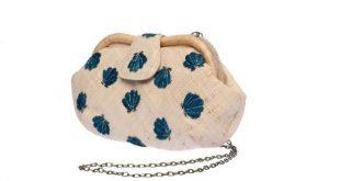 Sac à main vegan Straw Clutch Bag, Shell clutch purse Boho Summer Raffia Artisan Woven Purse