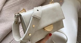 Solid Color Vintage Leather Crossbody Bags For Women 2019 Simple Style Handbags and Purses Luxury Quality Fashion Handbags - Beige 20cmx14cm x7cm
