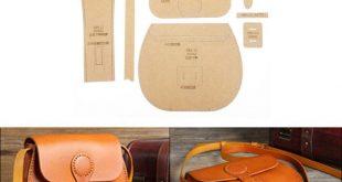 1Set Lederhandwerk Handtasche Nähen Muster schwer Kraft Papier Schablone Vorlage DIY Handarbeit Handwerk liefert 210x190x65mm