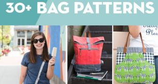 30 of My Favorite Bag Sewing Patterns (most are free)