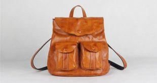 Backpacks for Teens Backpacking Handmade Full Grain Leather Backpack CF64 2019 ...
