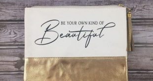 Be Your Own Kind Of Beautiful Canvas Pouch - Makeup Bag - Toiletry Bag - Purse - Bags for women - Gifts for teens - Motivational Quote