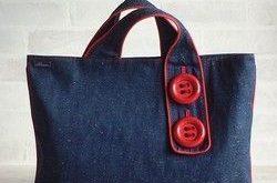 Big Button Flat Bag Agatred   Einkaufstasche - Aldea Blog - #Agatred #Bag #Big #...