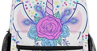 Buy ZOEO Unicorn Backpack Girls Backpacks Cream Pink Unicorn Magic 3th 4th 5th Grade School Bags Bookbags Teen Kids Travel Laptop Daypack Bag Purse online