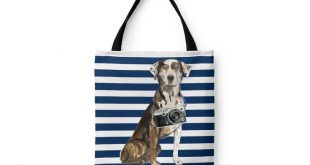 Catahoula Leopard Dog Tote Bag - Illustrated dogs & 6 Travel inspired styles. All purpose: for work, shopping, life. Catahoula Cur