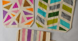 Collect & Carry: DIY: Geometric Painted Tote Bags => Auch Jutesäcke können hü...