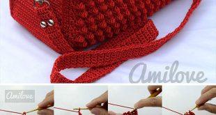 Crochet Bobble Stitch Handbag Pattern