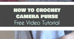 Crochet Camera Purse The Best Ideas [Free Pattern and Video Tutorial]
