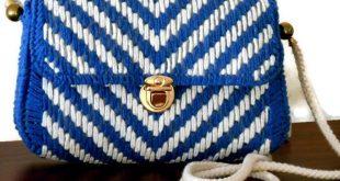 Crochet Cross Bag, Crochet shoulder bag, Unique bag, Trendy Bag, Handmade bag, Gift for Her, Knitted bag, Crochet Purse, Gift for Christmas