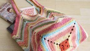 Crochet beach bag Crochet market bag multicolor Crochet bag | Etsy