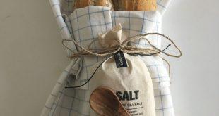 DIY  Geschekidee zur Haus/Wohnungseinweihung: Salz & Brot  _selbstgebackenes Bag...