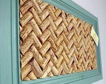 #DIY Ideen mit Korken zu machen: eine Tafel von Notizen