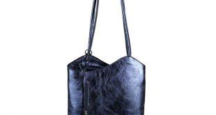FYI: [Werbung] ITAL DAMEN LEDER TASCHE METALLIC RUCKSACK Handtasche Schultertasc...