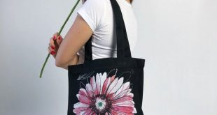 Gerbera Tote, Cotton Tote Bag, Tote Bag With Zipper, Grocery Bag, Floral Shopping Bag, Book Bag With Pocket, Eco Tote Bag, Beach Bag