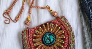 Mandala purse pendant,Amulet pouch necklace,Hippie,Boho purse and bag,Coin purse necklace,Bead bag necklace,Boho neck pouch,medicine pouch