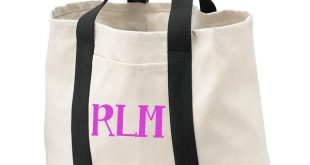 Monogrammed Carry-All Tote