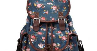 MoreChic Canvas Backpack Floral Printed Backpack School Bag for Teen Girls  2019...