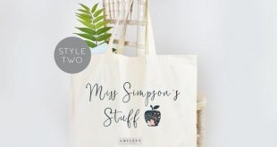 Personalised Teacher Tote Bag, Teacher Tote Bag, School Leaving Gift, Gift For Teacher, Teacher Gifts, Graduation Tote Bag Canvas, School
