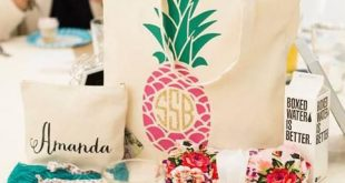 Pineapple Monogrammed Tote Bag