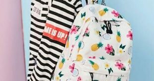 Pineapple Print Women Girl CanvasBackpack Bookbags Rucksack Laptop Daypack #fash...