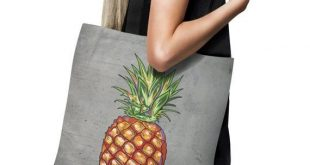 Pineapple Tote bag - Tote bag - Shopping Bag - Beach Bag - pineapple bag - Market Tote - Tropical Fruit tote bag - pineapple tote