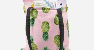 Pineapple tote bag , tote bag , pineapple bag , pineapple tote , pineapple , beach tote bag , shopping bag , beach bag , book bag , tropical