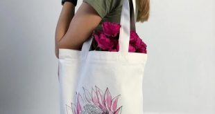 Protea Tote, Cotton Tote Bag, Tote Bag With Zipper, Grocery Bag, Floral Shopping Bag, Book Bag With Pocket, Eco Tote Bag, Beach Bag