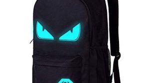 School Bags,Anime Luminous Backpack Laptop Bag Handbag Canvas Shoulder Daypack for Cool Girls...