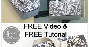 Sew Modern Bags brings you another FREE sewing pattern, this time it's a Perfect...