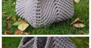 Solid Granny Square Handbag Free Crochet Pattern and Paid